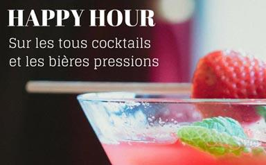 HAPPY HOUR Ven / Sam de 18h45 à 19h30