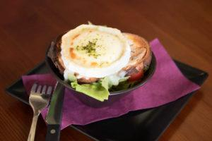 salade chevre chaud lardon