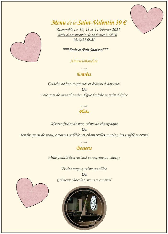 le loft menu saint valentin 2021